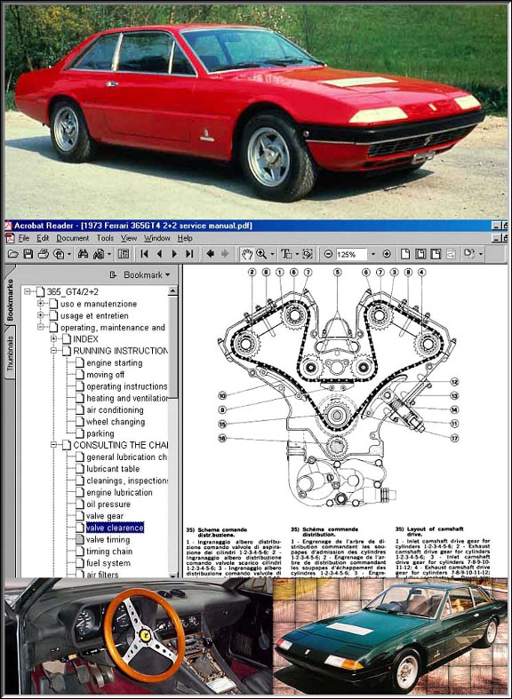 ferrari 365 gt4 2 2 service manual cd. Black Bedroom Furniture Sets. Home Design Ideas